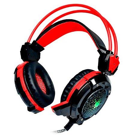 HEADSET GAMER USB/P2 COM LED GH-X30 SUPER BASS RED