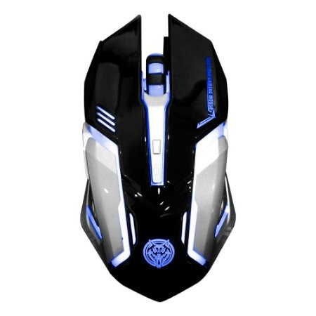 Mouse Gamer KP80 LEDs 7 cores com Macro 6 Botões 3200 DPI