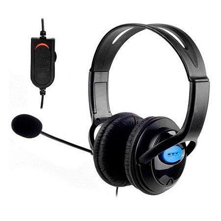 Combo Mouse Óptico USB 1600 DPI + Headset Gamer Stereo 2.0