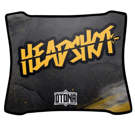 Mouse Pad Gamer Magnum Headshot Amarelo Speed Medio