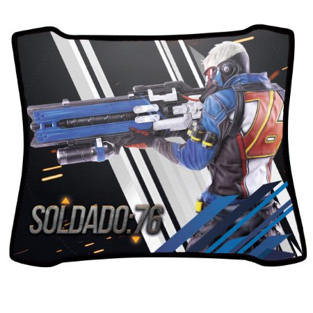 Mouse Pad Gamer Magnum Overwatch Soldado76 Speed Medio