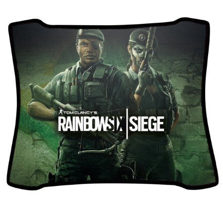Mouse Pad Gamer Magnum Rainbow Six Capitão e Caveira Speed Medio