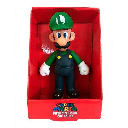 Boneco Luigi Do Super Mario Com 20cm Em Pvc