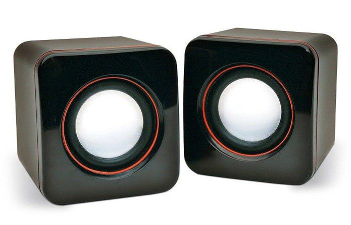 Caixa De Som SPEAKER Cubo Amplificada P/ Pc Mod. E-101