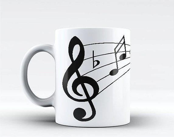 Caneca Notas Musicais