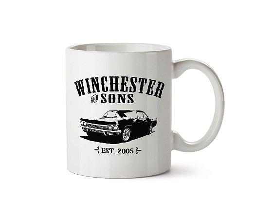 Caneca Supernatural: Winchester Sons e Carro Impala