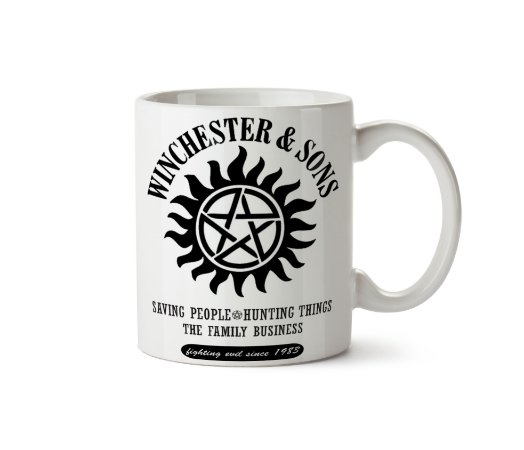 Caneca da série Supernatural: Winchesters Saving People