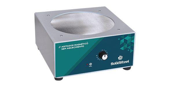 Agitador Magnético Analógico Sem Aquecimento 10 litros Solidsteel
