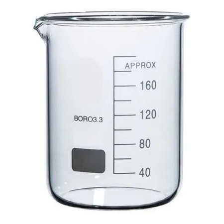 Becker em vidro 25ml Forma Baixa (Griffin) graduado boro 3.3