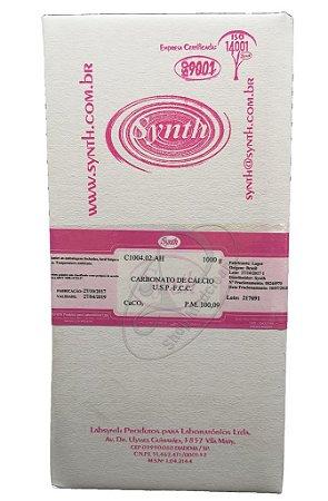 Carbonato de Cálcio USP FCC 100% puro 1Kg Synth