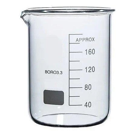 Becker em vidro 150ml Forma Baixa (Griffin) graduado boro 3.3
