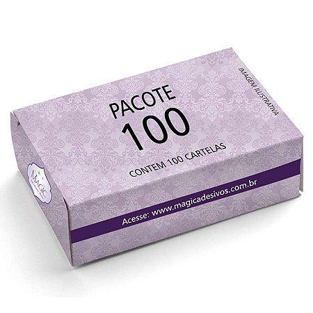 Adesivos de Unhas Para Revender Pacote Com 100 Cartelas