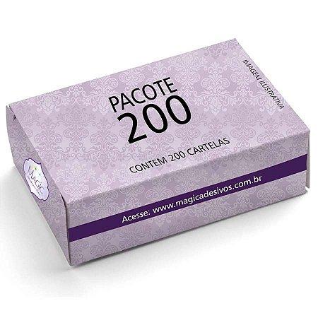 Adesivos de Unhas Para Revender Pacote Com 200 Cartelas