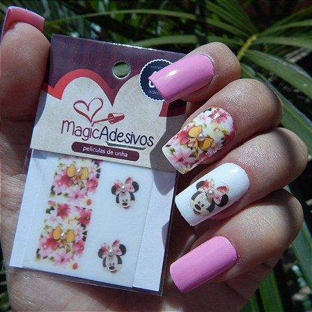 Adesivos de Unha Linha Glamour Floral e Minnie - GR16