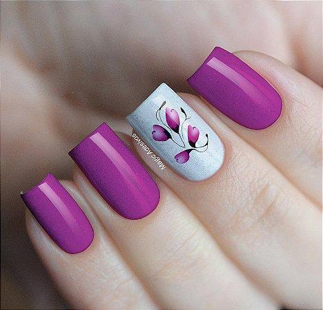 Adesivos de Unha Ramos de Flores Rosa - FL184