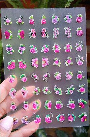 Cartelão 3D - FLORES 05 - 56 Adesivos