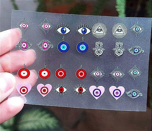 Cartelão 3D - OLHO GREGO - 28 Adesivos