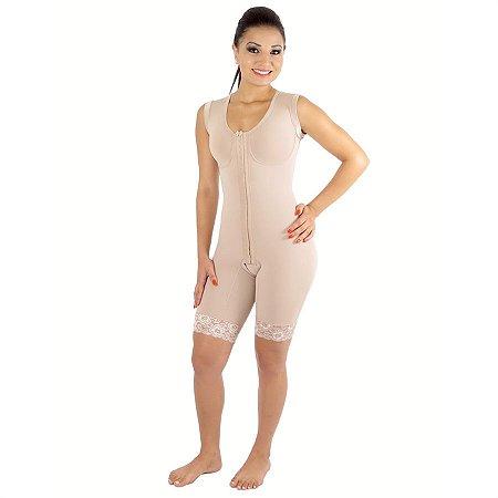 Modelador EMANA® 1/2 perna, abertura frontal, busto pré moldado e alça regata