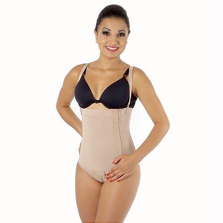 Modelador EMANA® Calcinha de cós alto com colchetes lateral