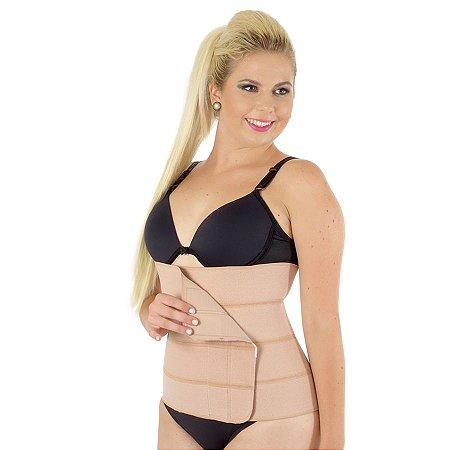 Faixa elástica abdominal de gomos, com velcro FEMININA (3, 4 ou 5 gomos)