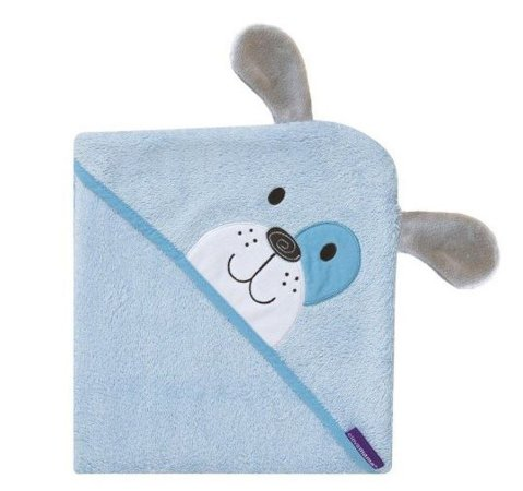 Toalha Mamae e Bebê Maxi Capuz Cachorro Azul Clevamama - CL3510