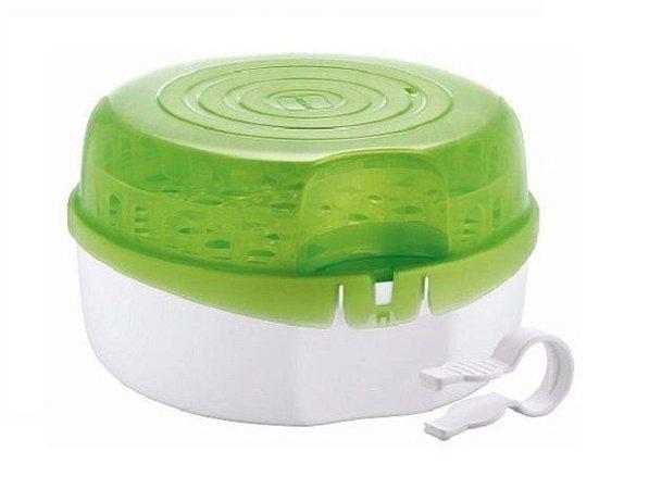 Esterilizador de Mamadeiras a Vapor para Microondas com Pinça