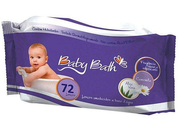 Lenços Umedecidos Baby Bath com 72 Unidades - B213872