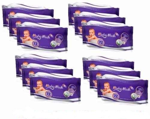 Kit 12 Lenços Umedecidos Standard Baby Bath - 864 Unidades