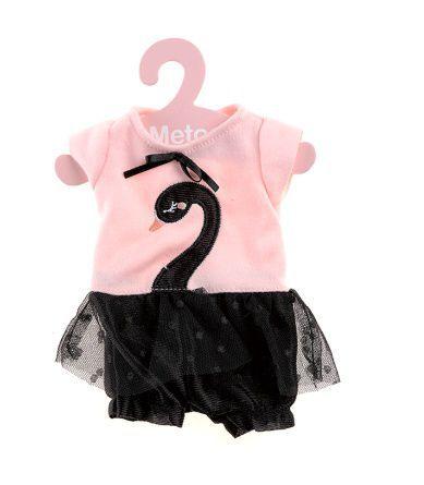 Roupa de Boneca Metoo Fashion - Macacão Cisne Negro com Cabide - BUP3172