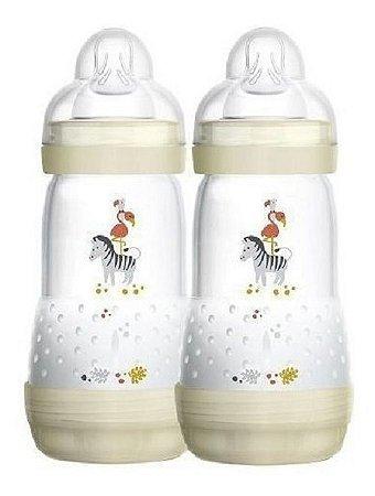 Mamadeira First Bottle / Easy Start Autoesterilizável MAM - 260ml Neutra - Embalagem Dupla - 4671ZB