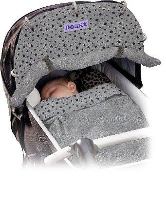 Capa Universal para Carrinho de Bebê Estrelas Cinza Escuro Dooky - 1309