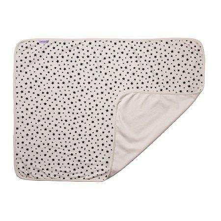 Manta para Bebês Dupla Face 70 x 85cm Estrelas Cinza Dooky - 1303