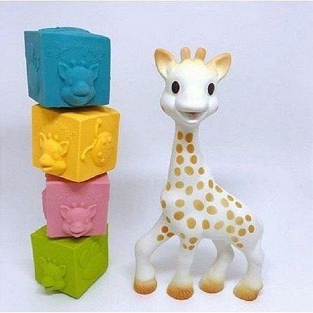 Cubos So Pure Sophie La Girafe (4 Cubos 100% Borracha Natural) - 403