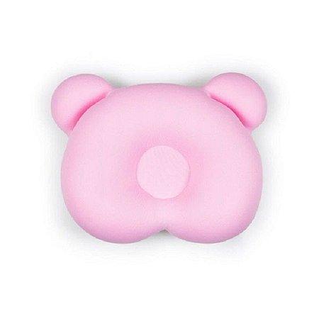 Almofada Ergonômica para Cabeça Urso Rosa Baby Pil - AE002