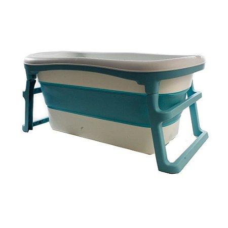 Banheira Dobrável Adulto Azul Kababy - 22202A