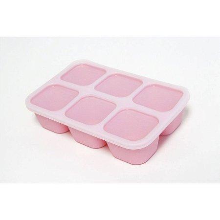 Forma Para Congelar Papinha Rosa Porquinho - MNMBB14-PG