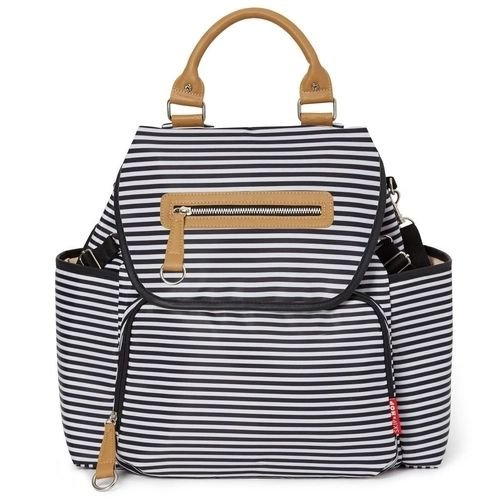 Bolsa Maternidade Grand Central Take It All Backpack Black White Stripes Skip Hop - 216101