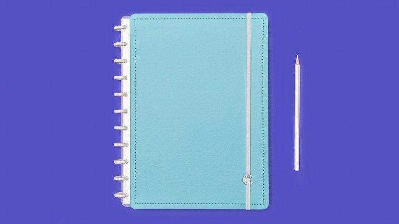 Caderno Inteligente - Azul Celeste Grande