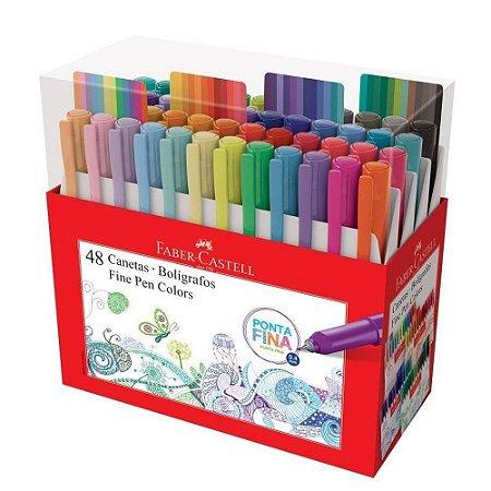 Canetinha Hidrográfica Fine Pen - 48 Cores | Faber Castell