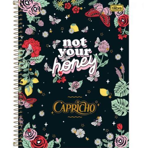 Caderno Universitário - Capa Dura - 10 Matérias - Capricho - Tilibra