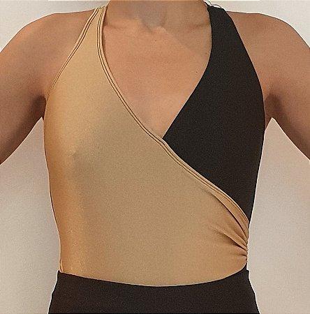 Body Transpasse Bicolor Gold