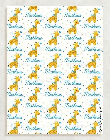 Papel Crepom Maternidade 14 - Girafa - 30 unid