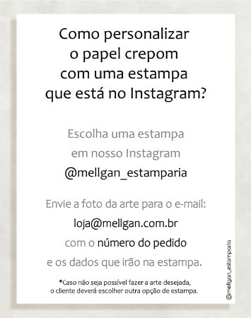 Papel Crepom com estampa do Instagram - 30 unid