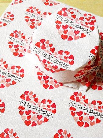 Papel Crepom  Namorados 11 - Coração Feliz - 30 unid