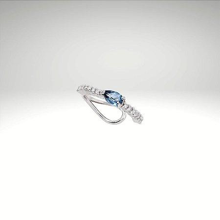 Piercing de Diamantes com Gota de Topázio London