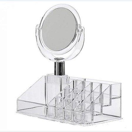 Organizador de Maquiagem com Espelho