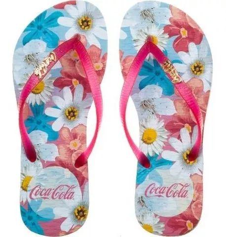 Sandália Feminino Coca-cola Aquarelle Flower