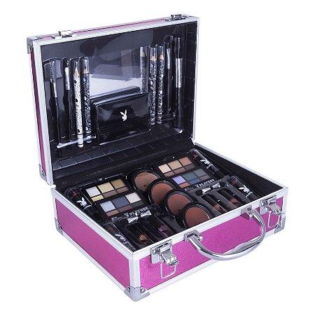 Maleta de Maquiagem Completa Rosa Playboy HB94675