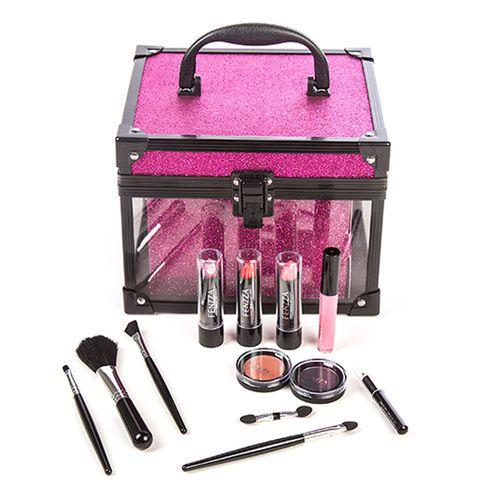 Maleta de Maquiagem Clear Pink Fenzza