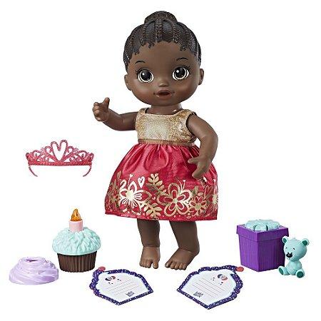Boneca baby Alive Festa Surpresa Negra- Hasbro